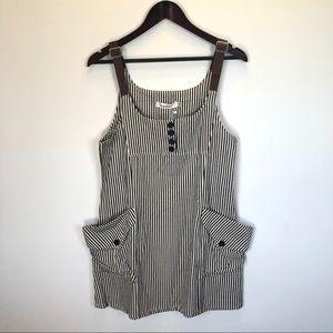 Dresses & Skirts - 🐮🖼striped denim overall jumper dress🖼🐮